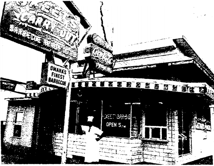 A 1972 image of Skeets in North Omaha Nebraska from the newspaper.