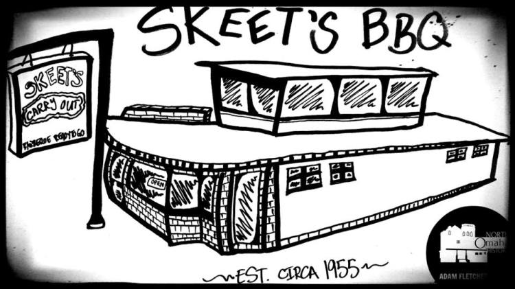 Adam Fletcher Sasse art Skeet's BBQ North Omaha