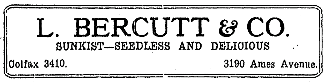 L. Bercutt and Company, 3190 Ames Avenue, North Omaha, Nebraska