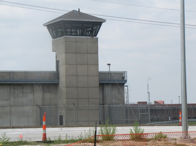The maximum-security Nebraska State Penitentiary in Lincoln where the Omaha Two were imprisoned for life for a crime they say they did commit. (credit: Michael Richardson)