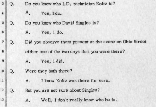 ATF Agent Thomas Sledge got caught in a lie during cross-examination. Sledge claimed he knew someone he didn't know. (credit: Trial Transcript)