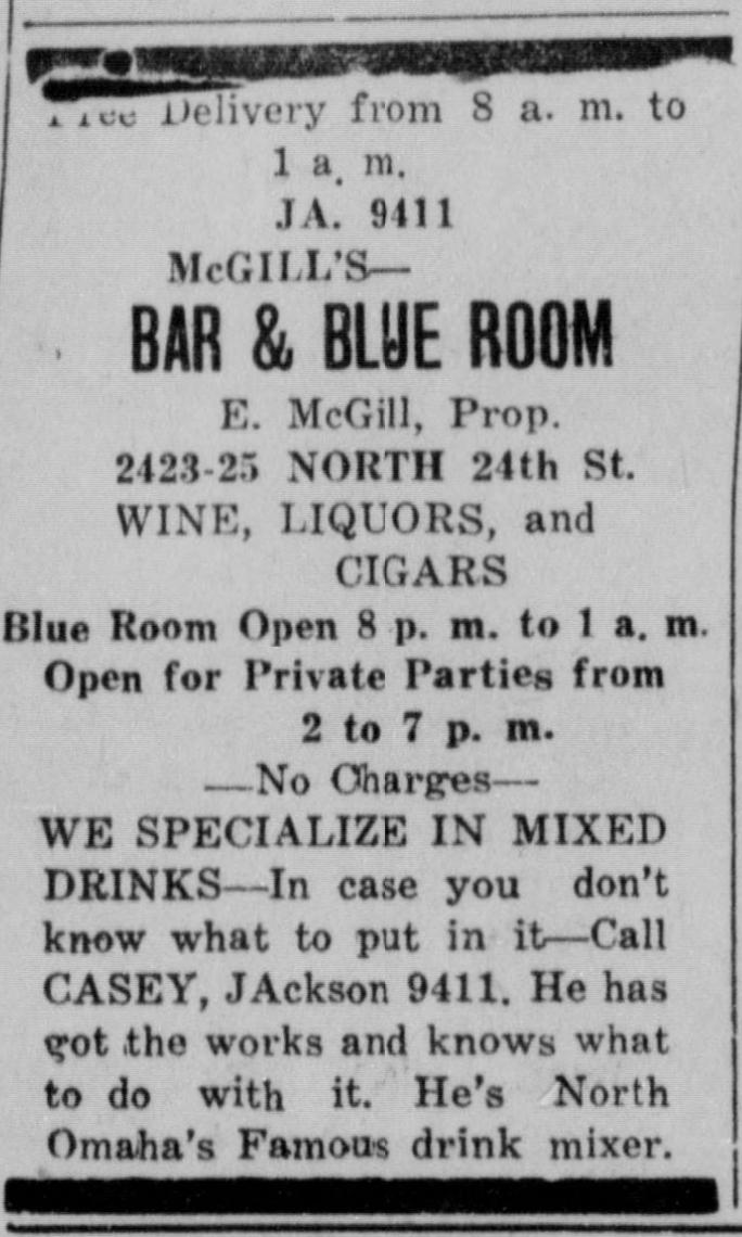 McGill's Blue Room 24th and Lake Omaha