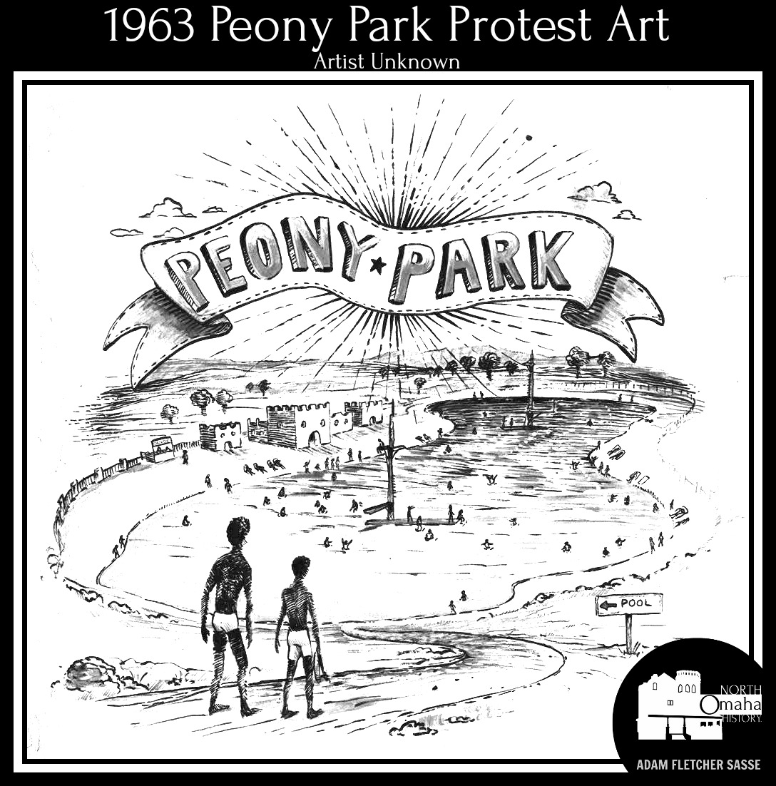 Omaha NAACP Youth Council 1963 Peony Park Protest art by the Omaha Public Schools Making Invisible History Visible Project