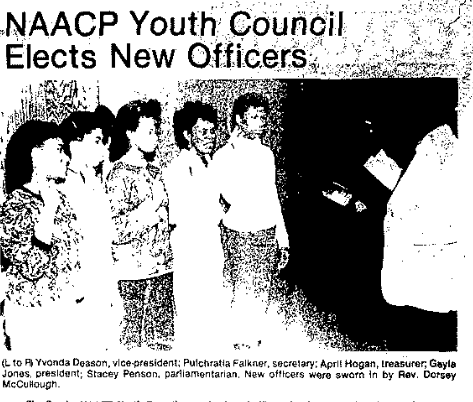 These are the leaders of the 1985 Omaha NAACP Youth Council.