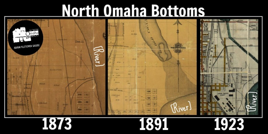 These are maps of the North Omaha Bottoms in 1873, 1891 and 1923.