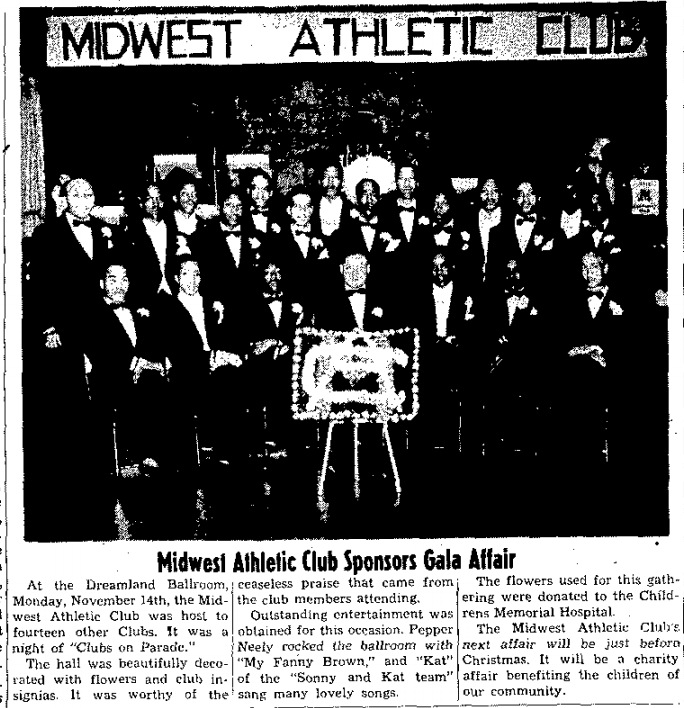 North Omaha's Midwest Athletic Club in 1949