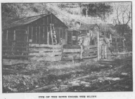 This is a pic of from the North Omaha Bottoms in 1906. It shows a row of shacks along the railroad tracks at the foot of the cliff east of N. 14th Street.