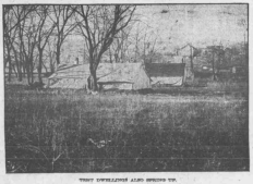 This is a pic of from the North Omaha Bottoms in 1906. It shows a canvas tent.
