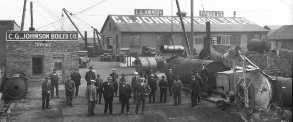 The C.G. Johnson Boiler Company was at 1445 North 11th Street in the North Omaha Bottoms.