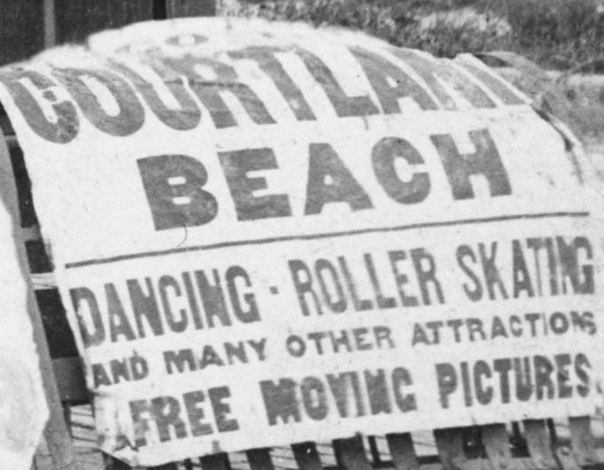 Courtland Beach sign