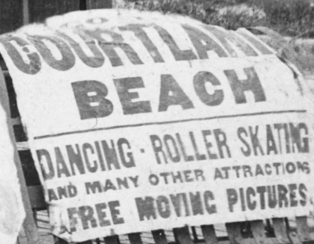 Courtland Beach sign