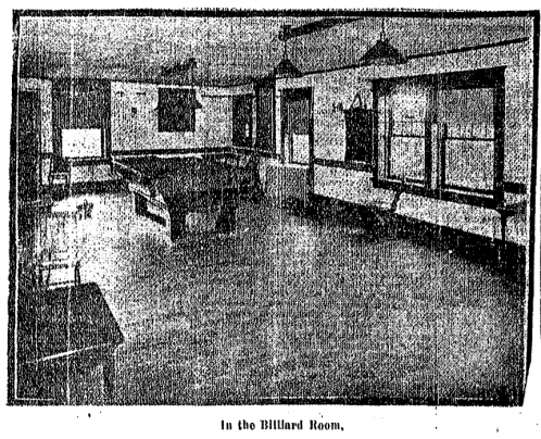This is the Billiard Room in the Prairie Park Clubhouse in 1912.
