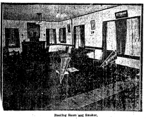 This is a reading room in the Prairie Park Clubhouse in 1912.