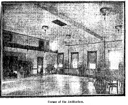 This is the auditorium in the Prairie Park Clubhouse in 1912.