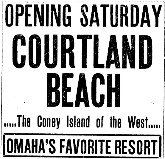 1904 Courtland Beach Omaha advertisement