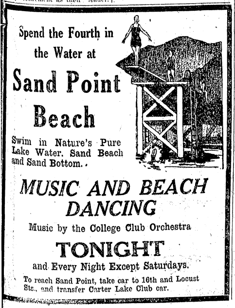 Sand Point Beach Carter Lake