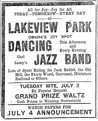 Lakeview Amusement Park Carter Lake Iowa