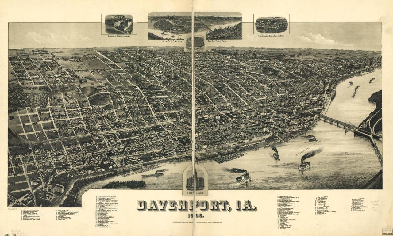 1888 Davenport, Iowa.