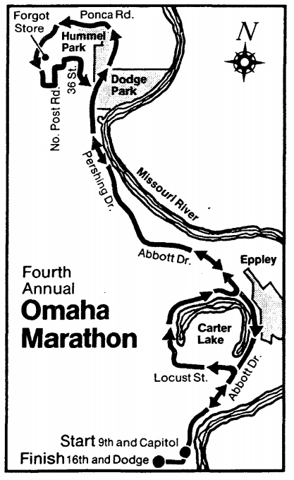 1979 Omaha Marathon Map