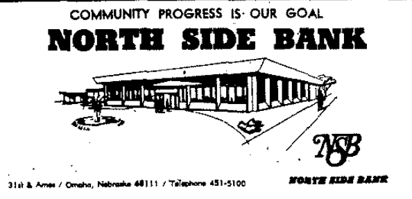 North Side Bank, N. 31st and Ames Ave., North Omaha, Nebraska