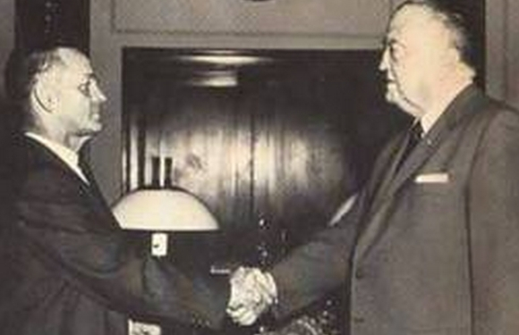 William Sullivan, head of COINTELPRO operations, praised J. Edgar Hoover for thirty years. A power struggle led to a split between the two men. Their last conversation was a shouting match. (credit: Federal Bureau of Investigation)