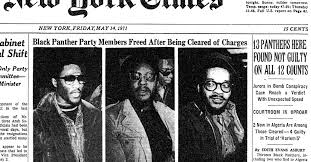 The prosecution of the New York 21 was the nation's largest show trial against the Black Panthers. The jury acquitted the Panthers in less than one hour deliberation. J. Edgar Hoover was furious and ordered an intensification of effort against the group.   (credit: New York Times)