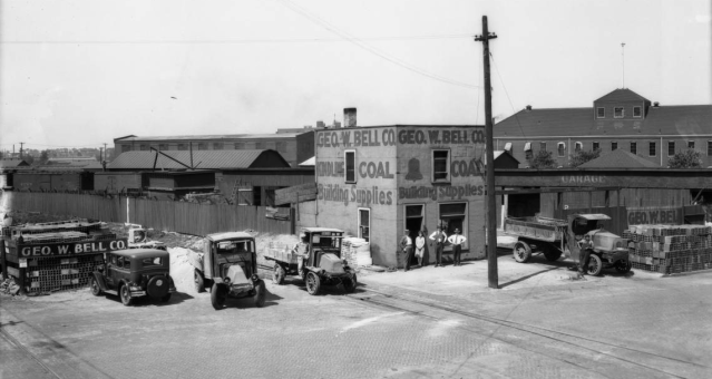 George Bell Coal Company, 1124 Cass Street, North Downtown Omaha, Nebraska.