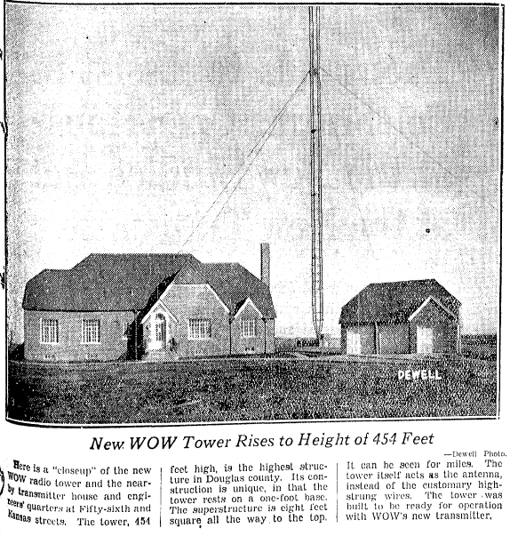 WOW Radio Antenna, 5504 Kansas Avenue, North Omaha, Nebraska 68111