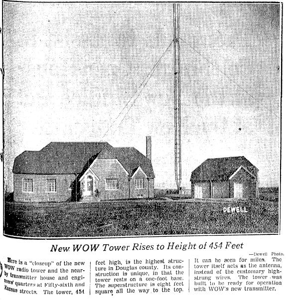 WOW Radio Antenna, 5504 Kansas Avenue, North Omaha, Nebraska 68111