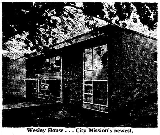 This is the Wesley House when it was opened in 1959.