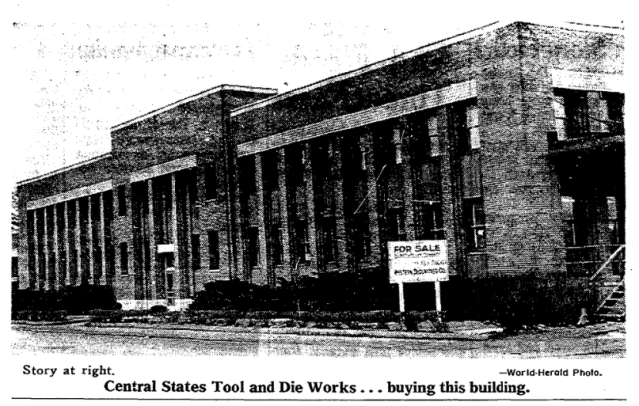 Central States Tool and Die  Works, N. 30th and Taylor Streets, North Omaha, Nebraska