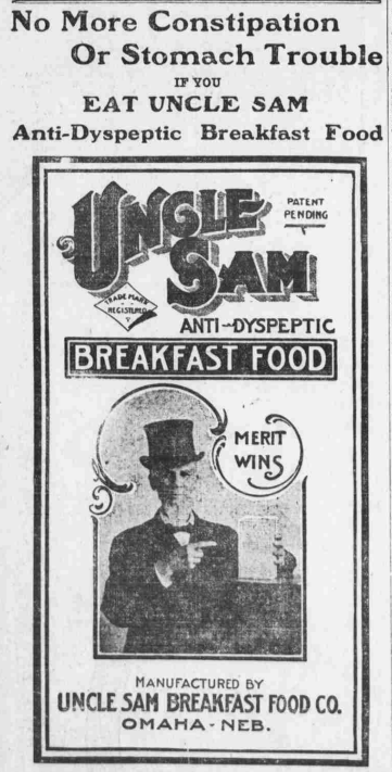 Uncle Sam cereal, North Omaha, Nebraska