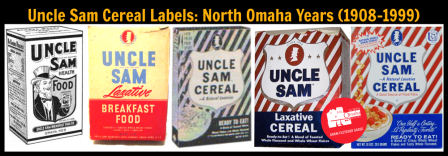 U.S. Mills Uncle Sam cereal boxes