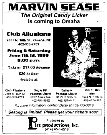 Club Allusions, 2801 N. 16th St., North Omaha, Nebraska