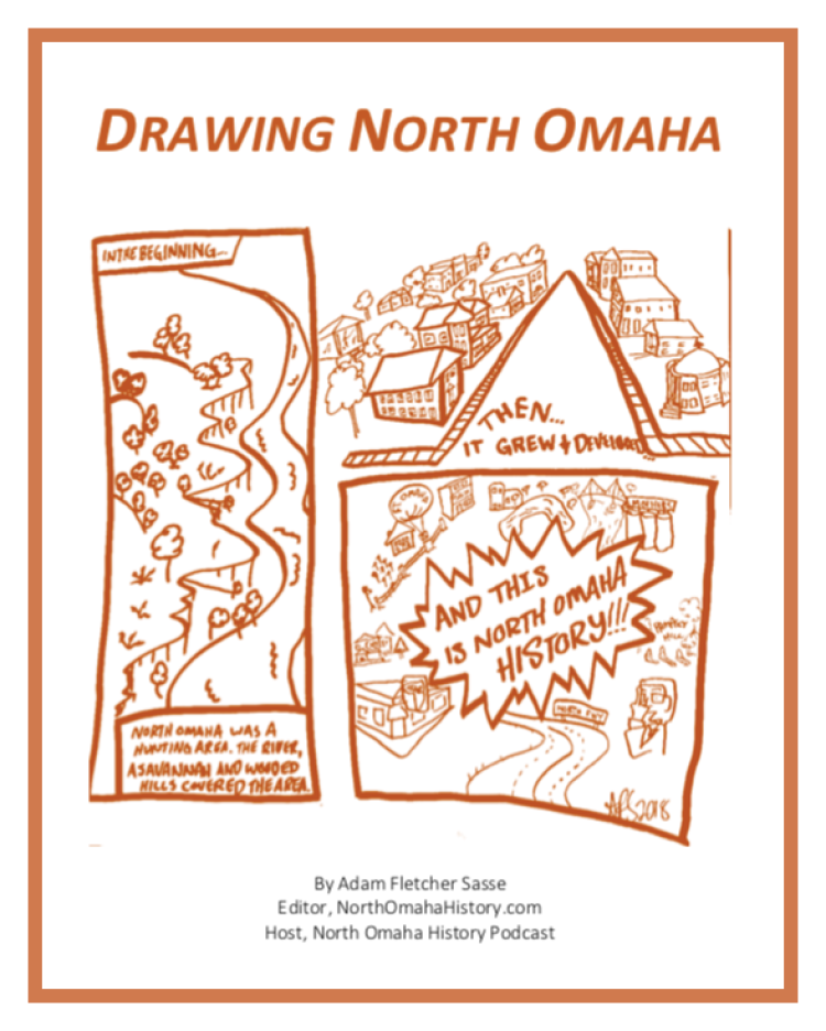Drawing North Omaha by Adam Fletcher Sasse