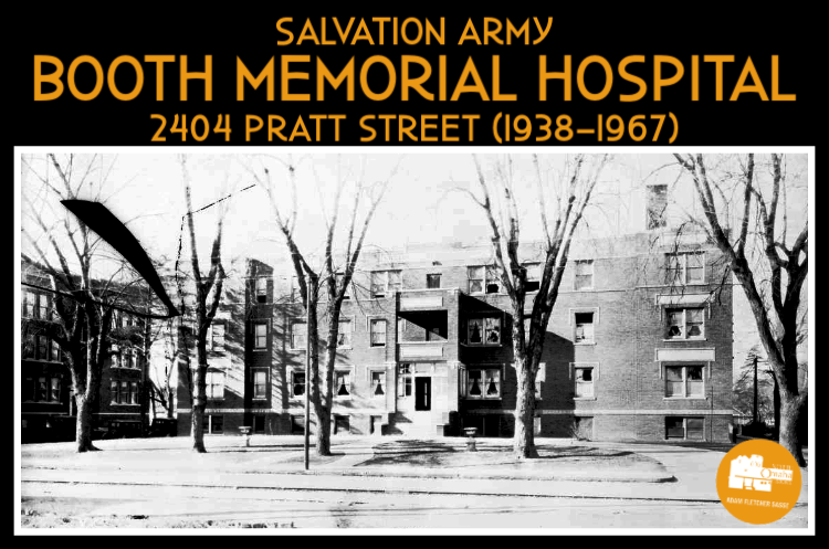 The Salvation Army Booth Memorial Hospital was located at 2404 Pratt Street, North Omaha, Nebraska