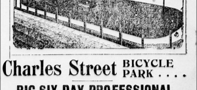 This is an 1895 ad for the Charles Street Bicycle Park.