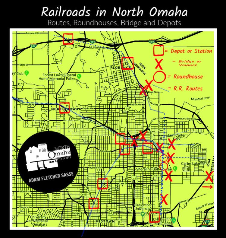 Railroads in North Omaha