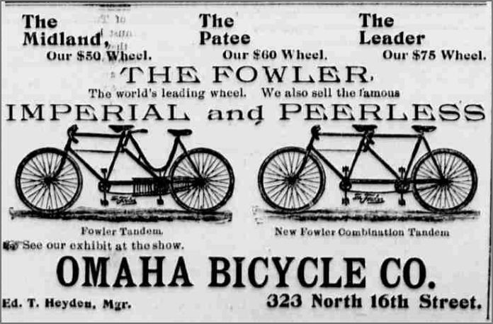 Omaha Bicycle Company, 323 North 16th Street, Downtown Omaha, Nebraska.