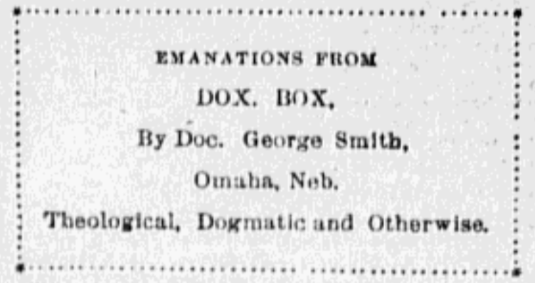 Dox Box, N. 16th and Burdette, North Omaha, Nebraska