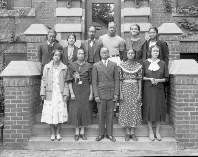 Omaha Urban League staff at the Webster Telephone Exchange Building, 2213 Lake Street, North Omaha, Nebraska
