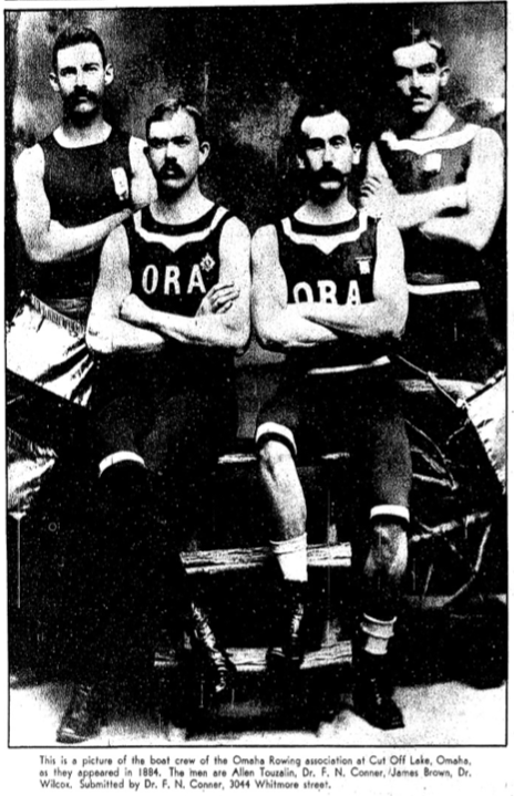 1935 Omaha World Herald Omaha Rowing Association pic