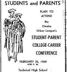 1968 Student-Parent College-Career Conference, Omaha Urban League, Technical High School, North Omaha, Nebraska