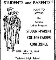 1968 Student-Parent College-Career Conference, Omaha Urban League, Technical High School, North Omaha, Nebraska