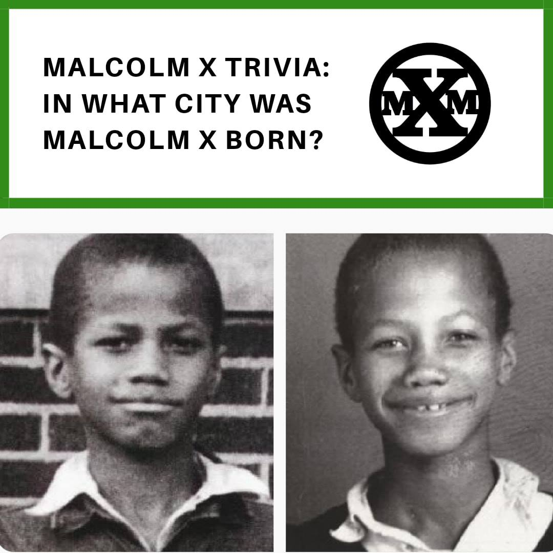 Malcolm X Memorial Foundation trivia pic showing the young Malcolm Little. Pic courtesy of the Malcolm X Memorial Foundation.