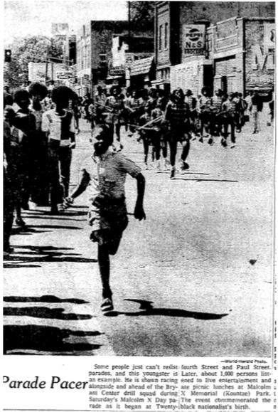 1973 Malcolm X Day Parade, North 24th Street, North Omaha, Nebraska