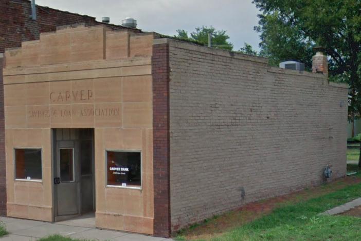 Carver Savings and Loan Association, 2416 Lake Street, 24th and Lake Historic District, North Omaha, Nebraska.