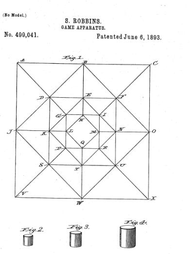 "Silas Robbins' 1893 board game called ""Politics."""