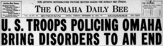 Omaha Daily Bee, September 30, 1919.