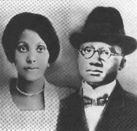 This is Louise Norton Little and Earl Little, the parents of Malcolm X.